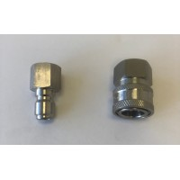 Stainless Steel Quick Connect Socket and Plug Set (3/8 FEMALE)