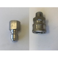 Stainless Steel Quick Connect Socket and Plug Set (3/8 MALE)