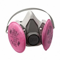 3M Half Mask Respirator (6000 series) with P100 Cartridge