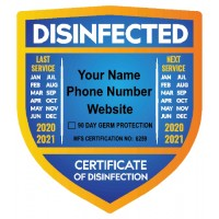 Virus Disinfection Stickers (Pack of 100)